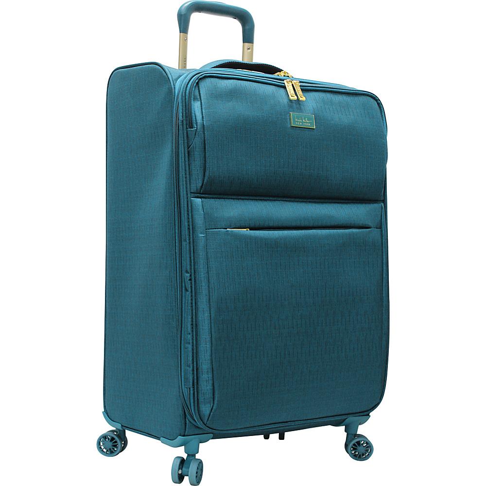 """Nicole Miller NY Luggage Sophia 26"""" Expandable Spinner Turquoise - Nicole Miller NY Luggage Large Rolling Luggage"""