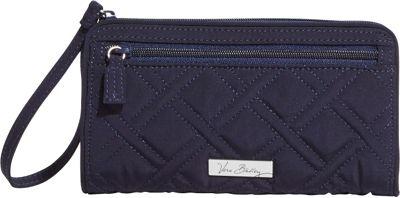 Vera Bradley Front Zip Wristlet - Solids Classic Navy - Vera Bradley Fabric Handbags