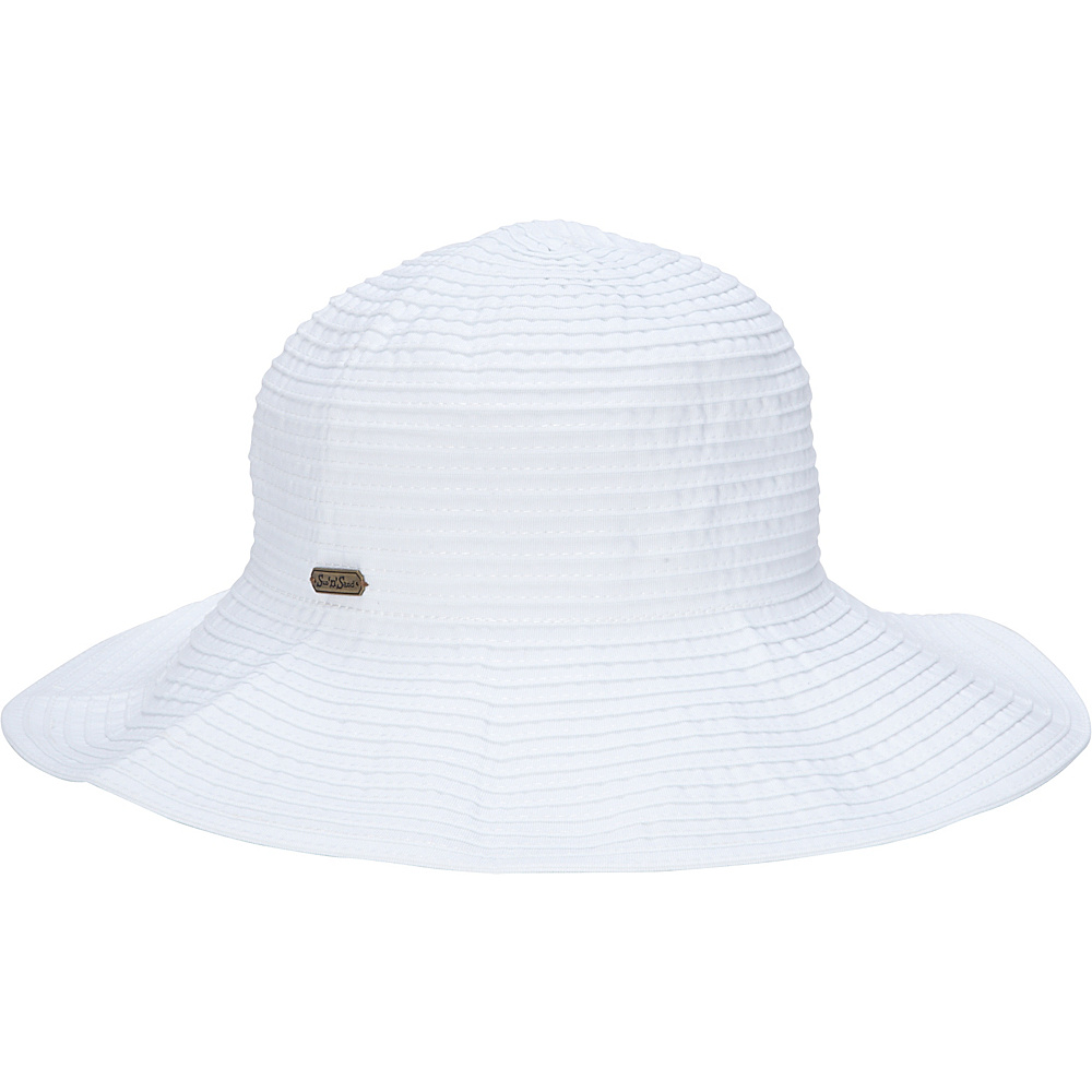 Sun N Sand Classic Snap & Go Hat One Size - White - Sun N Sand Hats/Gloves/Scarves - Fashion Accessories, Hats/Gloves/Scarves