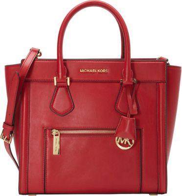 MICHAEL Michael Kors Colette Zip Large Satchel Chili - MICHAEL Michael Kors Designer Handbags