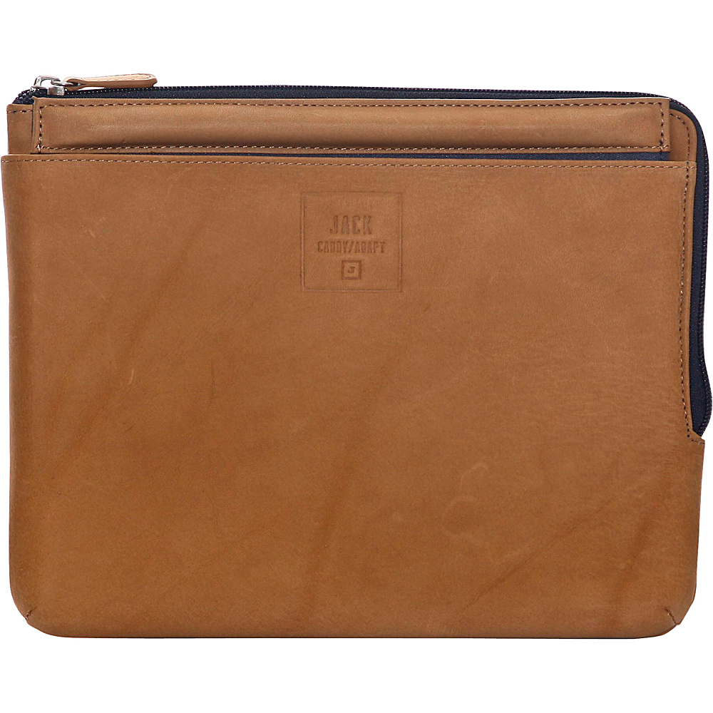 Jill e Designs Jack Dominick 10 Leather Tablet Sleeve with Stand Tan Jill e Designs Electronic Cases