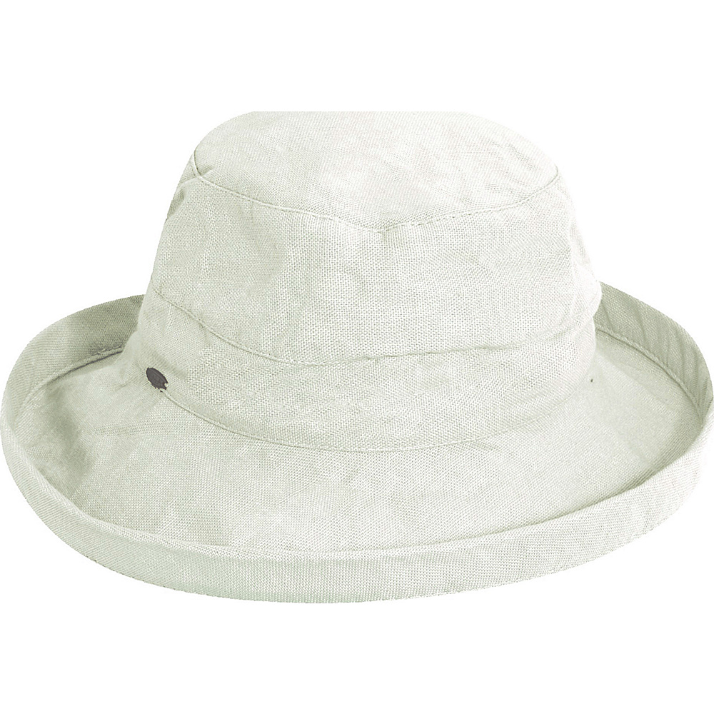 Scala Hats Medium Brim Cotton Hat White Scala Hats Hats Gloves Scarves