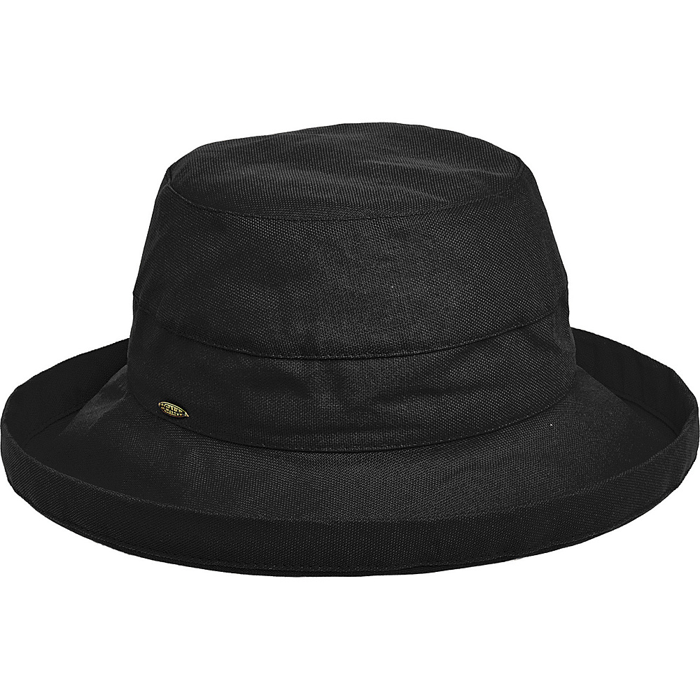 Scala Hats Medium Brim Cotton Hat Black Scala Hats Hats Gloves Scarves