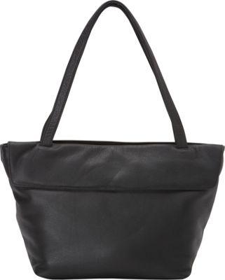 Derek Alexander Double Zip Tote Black - Derek Alexander Leather Handbags