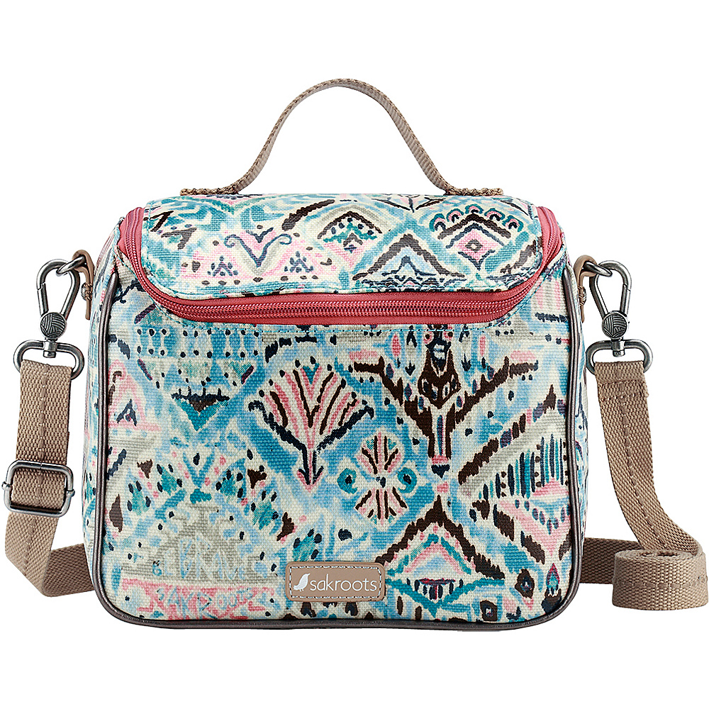 Sakroots Artist Circle Crossbody Cooler Turq Brave Beauti - Sakroots Travel Coolers - Travel Accessories, Travel Coolers