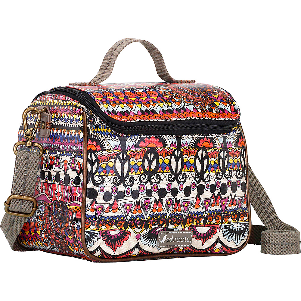 Sakroots Artist Circle Crossbody Cooler Camel One World - Sakroots Travel Coolers - Travel Accessories, Travel Coolers