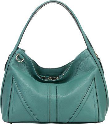Vicenzo Leather Ellese Leather Hobo Handbag Turquoise - Vicenzo Leather Leather Handbags
