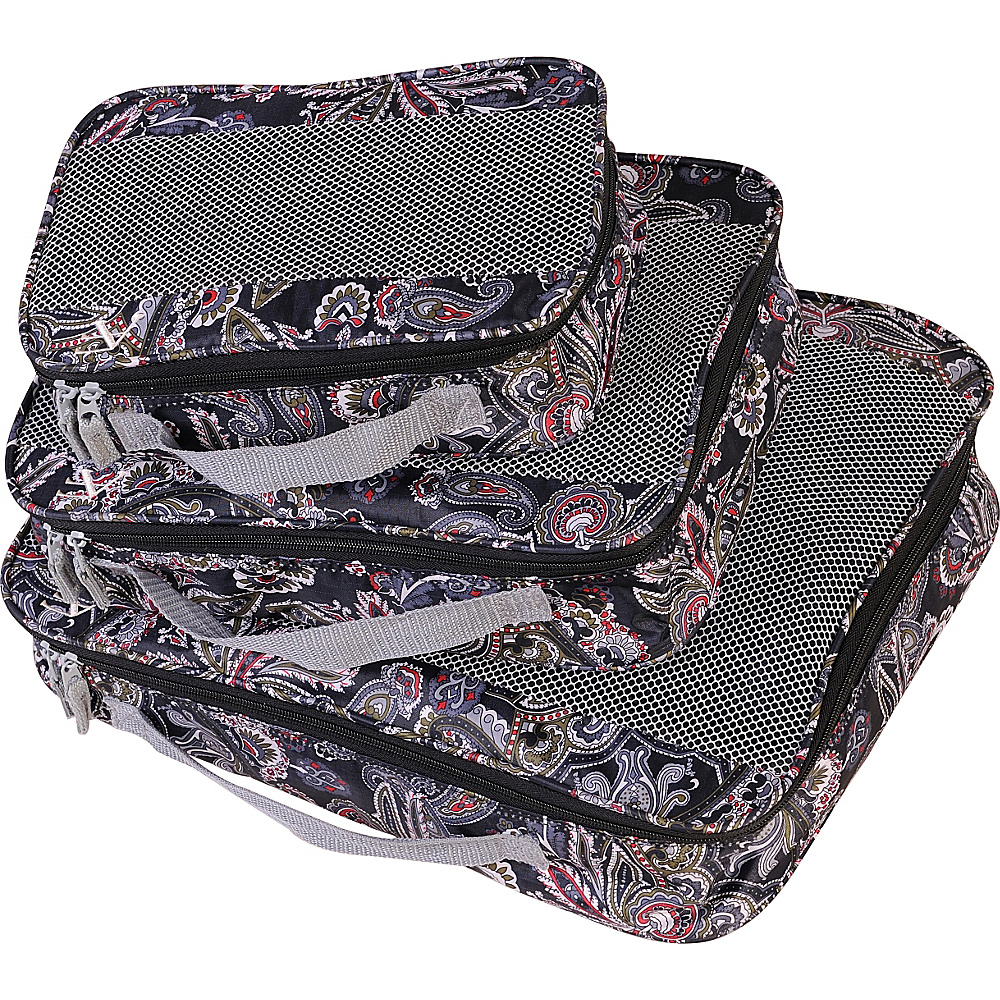 American Flyer Paisley 3 Piece Packing Set Black American Flyer Travel Organizers