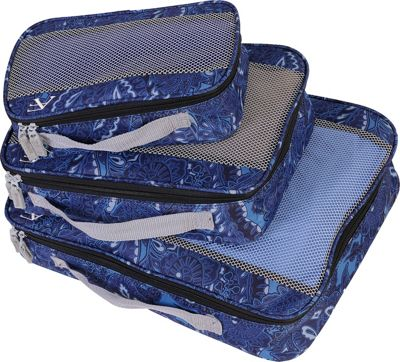 American Flyer Paisley 3 Piece Packing Set Blue - American Flyer Travel Organizers