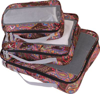 American Flyer Paisley 3 Piece Packing Set MAROON - American Flyer Travel Organizers
