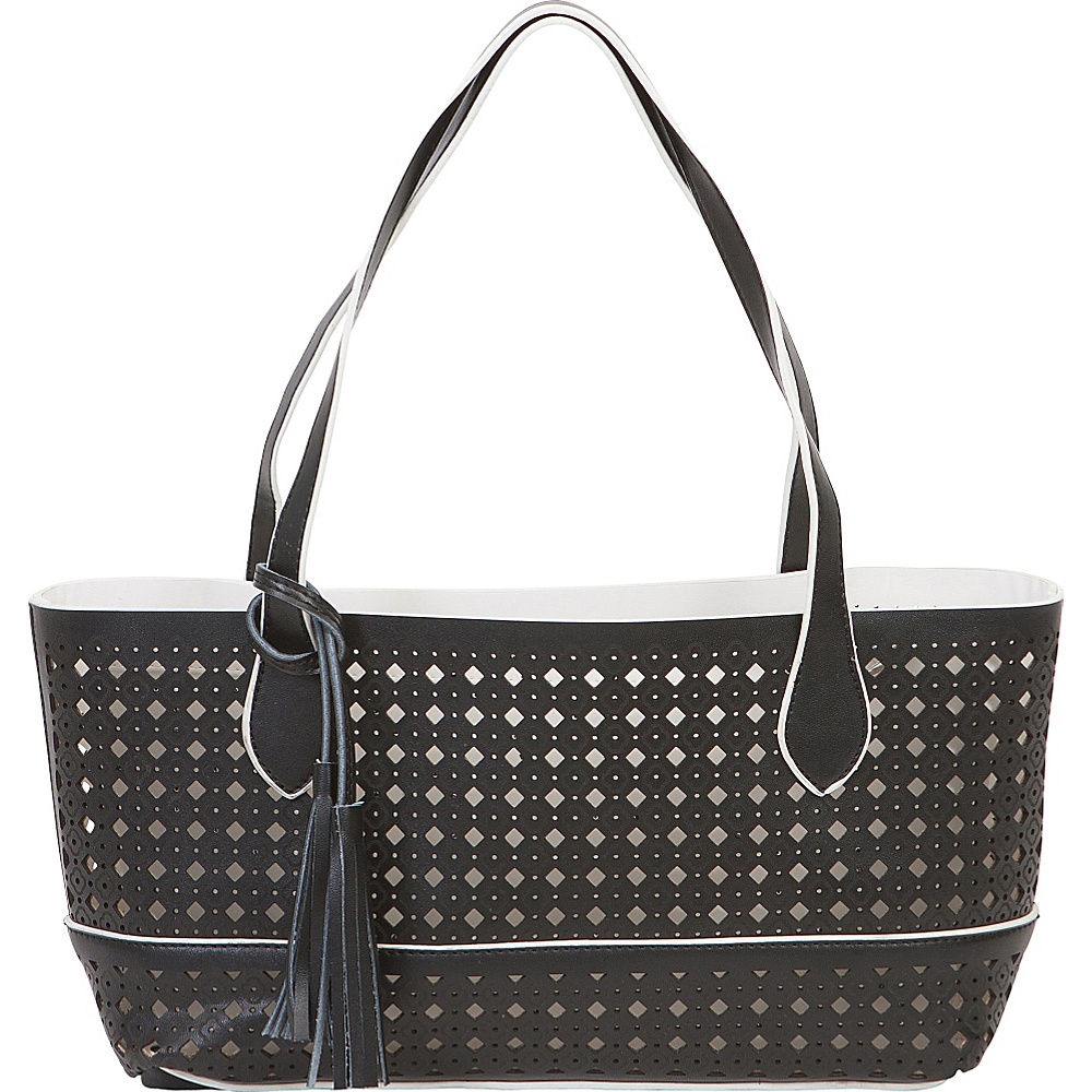 BUCO Small Fiore Tote Black - BUCO Leather Handbags