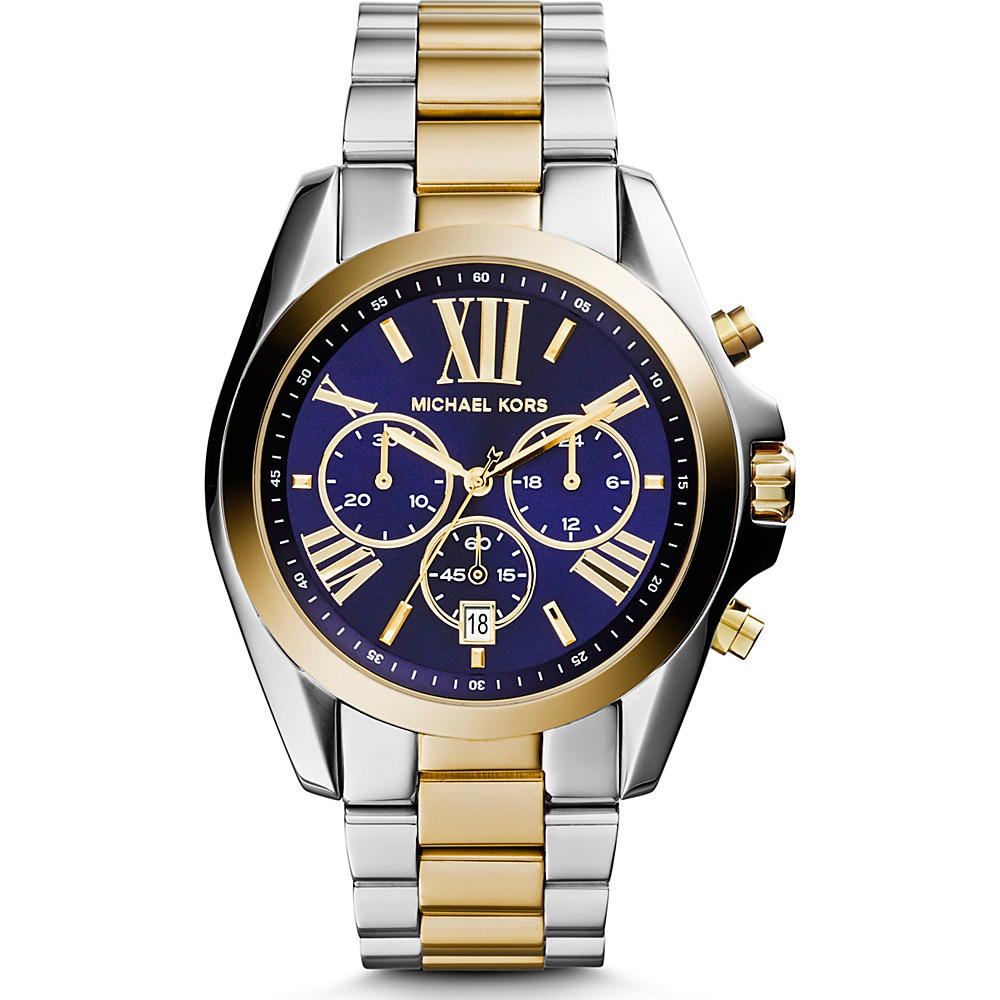 Michael Kors Watches Bradshaw Chronograph Stainless Steel Watch Silver Gold Blue Michael Kors Watches Watches