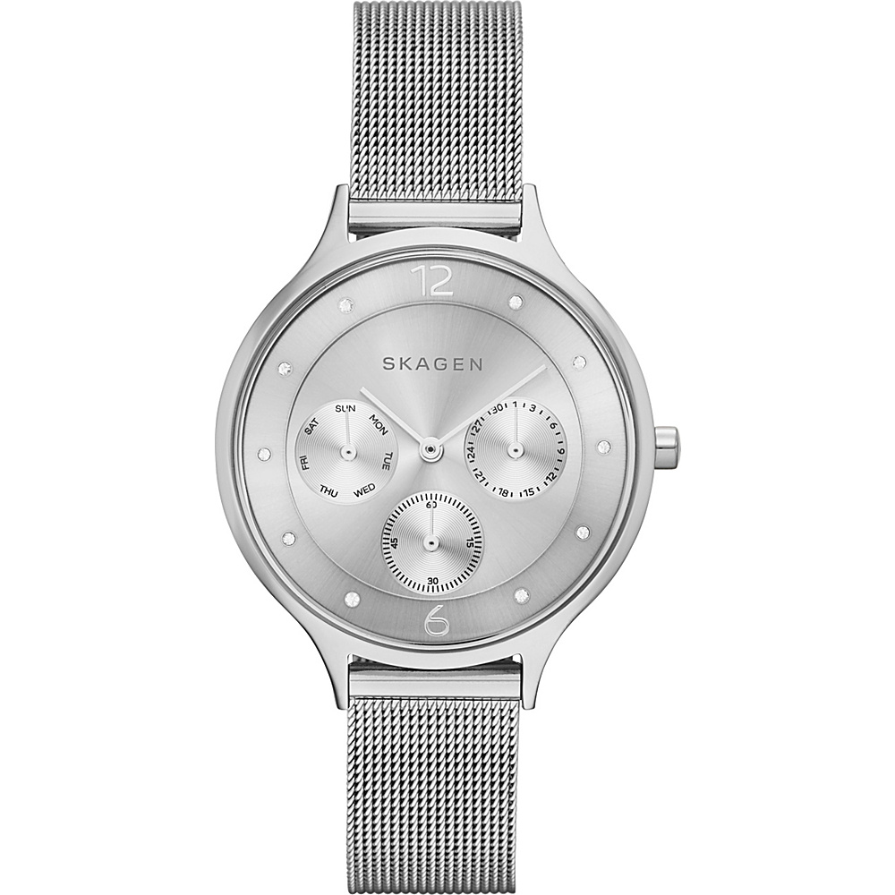 Skagen Anita Steel Mesh Multifunction Watch Silver Skagen Watches