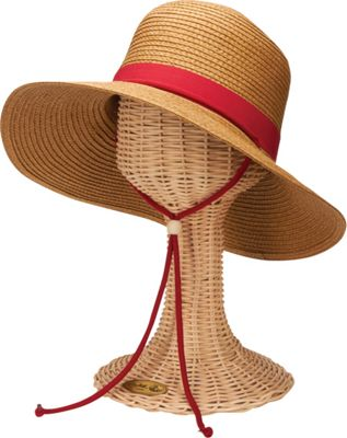 San Diego Hat Paper Sunbrim Hat with Fabric Band and Chin Cord Red - San Diego Hat Hats