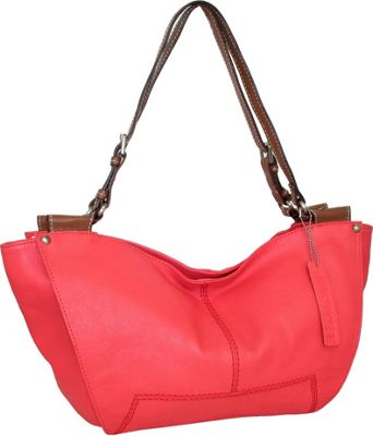 Nino Bossi Isle of Capri Shoulder Bag Coral - Nino Bossi Leather Handbags