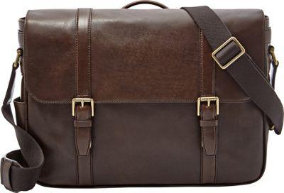 Fossil Estate E/W Messenger Dark Brown - Fossil Messenger Bags