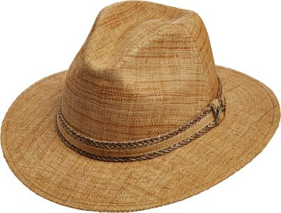 Tommy Bahama Headwear Matte Raffia Safari Hat Tea-L/XL - Tommy Bahama Headwear Hats/Gloves/Scarves