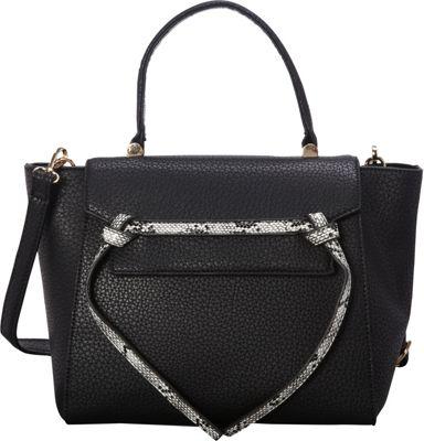 SW Global Deana Satchel Black - SW Global Manmade Handbags