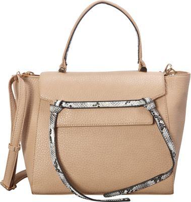 SW Global Deana Satchel Ivory - SW Global Manmade Handbags