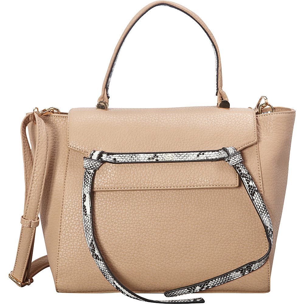 SW Global Deana Satchel Ivory - SW Global Manmade Handbags - Handbags, Manmade Handbags