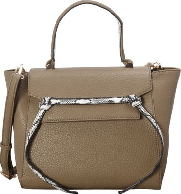 SW Global Deana Satchel Taupe - SW Global Manmade Handbags