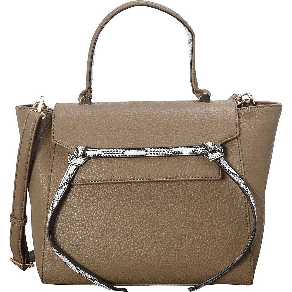 SW Global Deana Satchel Taupe - SW Global Manmade Handbags - Handbags, Manmade Handbags