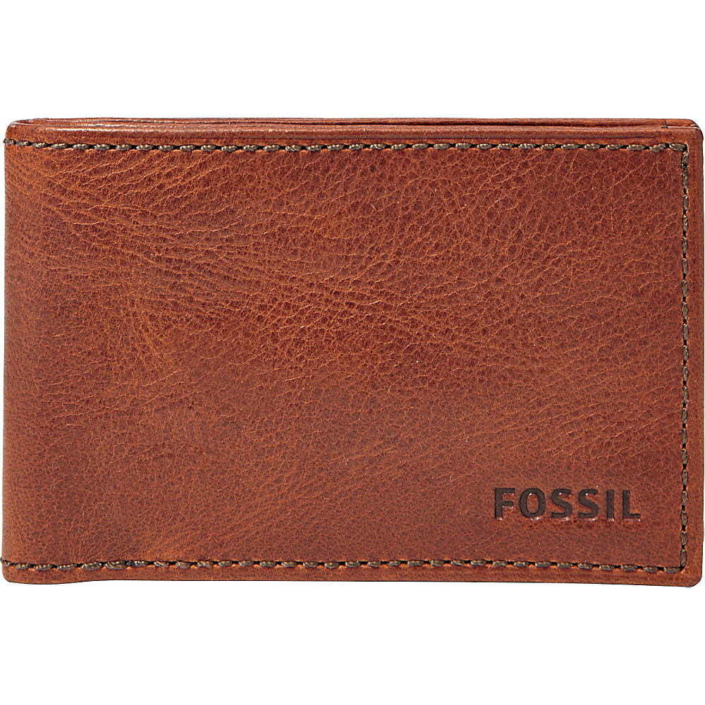 Fossil Conner Slim Coin Pocket Bifold Cognac - Fossil Mens Wallets - Work Bags & Briefcases, Men's Wallets