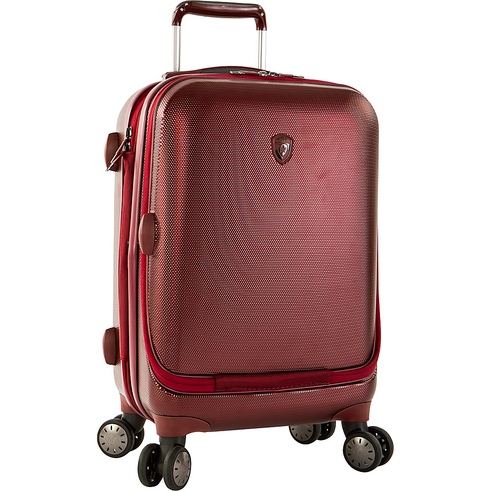 Heys America Portal SmartLuggage 21 Carry On Spinner Luggage Burgundy Heys America Hardside Carry On