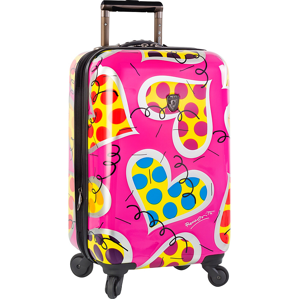 Heys America Britto Hearts Carnival 21 Carry On Spinner Luggage Multi Britto Hearts Carnival Heys America Hardside Carry On