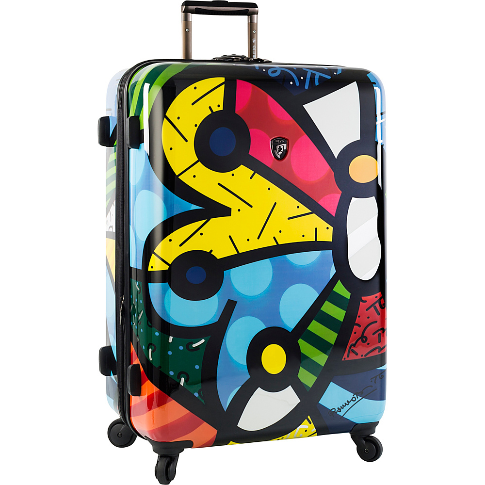 Heys America Britto Butterfly 30 Upright Luggage Multi Britto Butterfly Heys America Hardside Checked