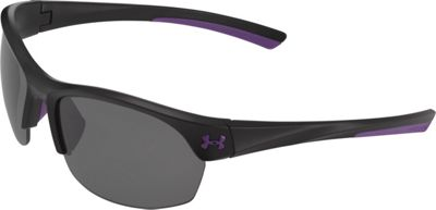 Under Armour Eyewear Marbella Sunglasses Satin Black-Violet Accents/Gray Multiflection - Under Armour Eyewear Sunglasses