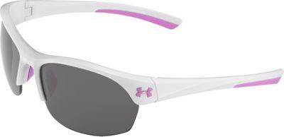 Under Armour Eyewear Marbella Sunglasses Shiny White-Pink Sick/Gray Multiflection - Under Armour Eyewear Sunglasses