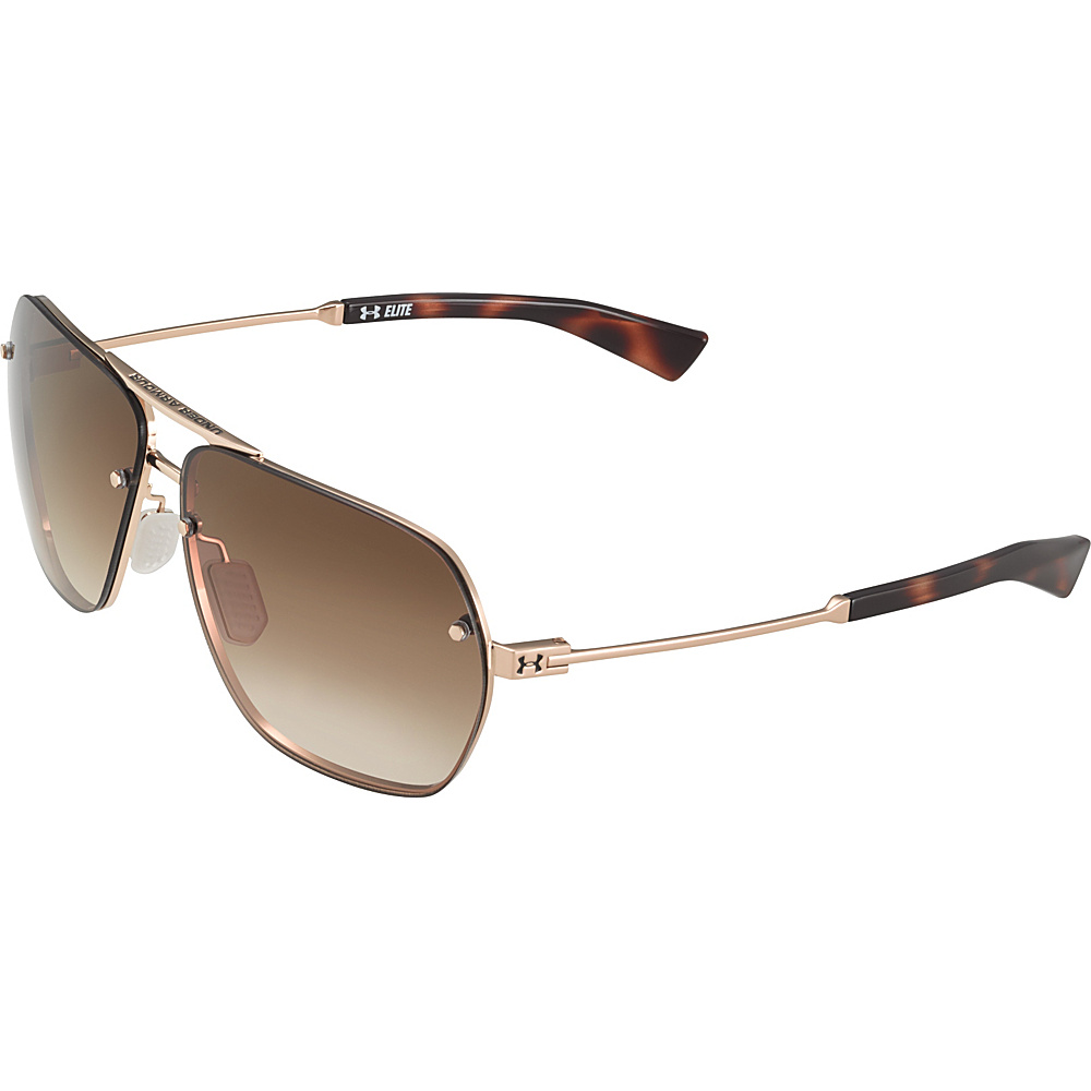 Under Armour Eyewear Hi Roll Sunglasses Shiny Gold Tortoise Brown Gradient Under Armour Eyewear Sunglasses