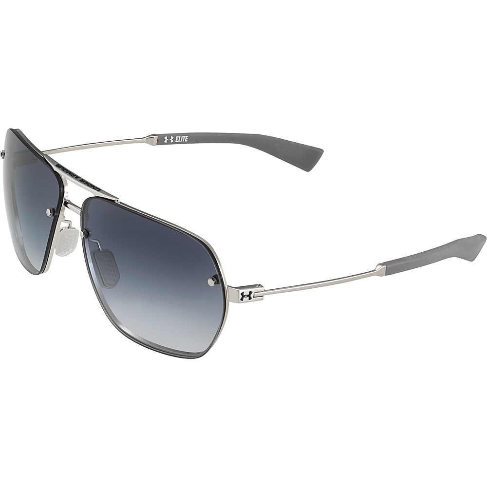 Under Armour Eyewear Hi Roll Sunglasses Shiny Silver Carbon Blue Gradient Under Armour Eyewear Sunglasses