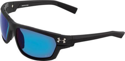 Under Armour Eyewear Hook'd Storm Sunglasses Satin Black/Gray Storm ANSI Polarized Blue Mirror - Under Armour Eyewear Eyewear
