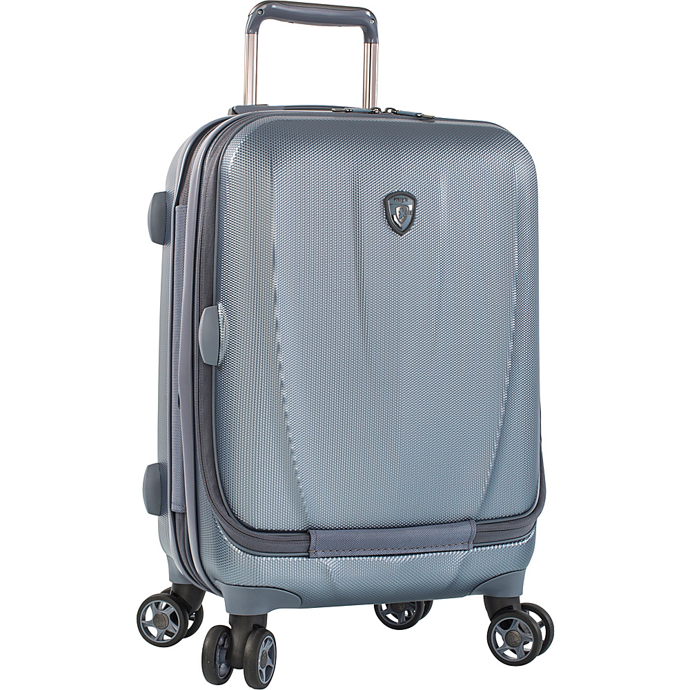 Heys America Vantage SmartLuggage 21 Carry On Spinner Slate Blue Heys America Hardside Carry On