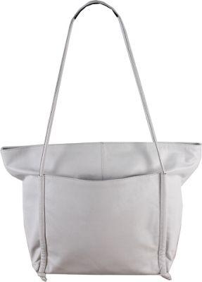 Latico Leathers Rumi Tote Metallic White - Latico Leathers Gym Bags