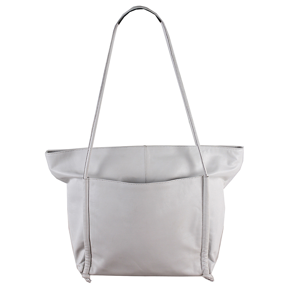 Latico Leathers Rumi Tote Metallic White - Latico Leathers Leather Handbags - Handbags, Leather Handbags