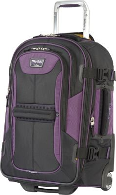 Travelpro T-Pro Bold 2.0  22 inch Expandable Rollaboard Black & Purple - Travelpro Softside Carry-On
