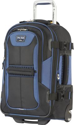 Travelpro T-Pro Bold 2.0  22 inch Expandable Rollaboard Black & Blue - Travelpro Softside Carry-On