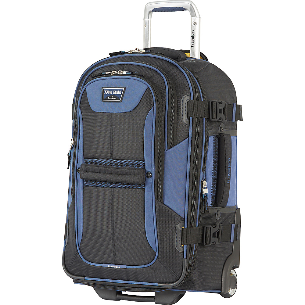 Travelpro T Pro Bold 2.0 22 Expandable Rollaboard Black amp; Blue Travelpro Softside Carry On
