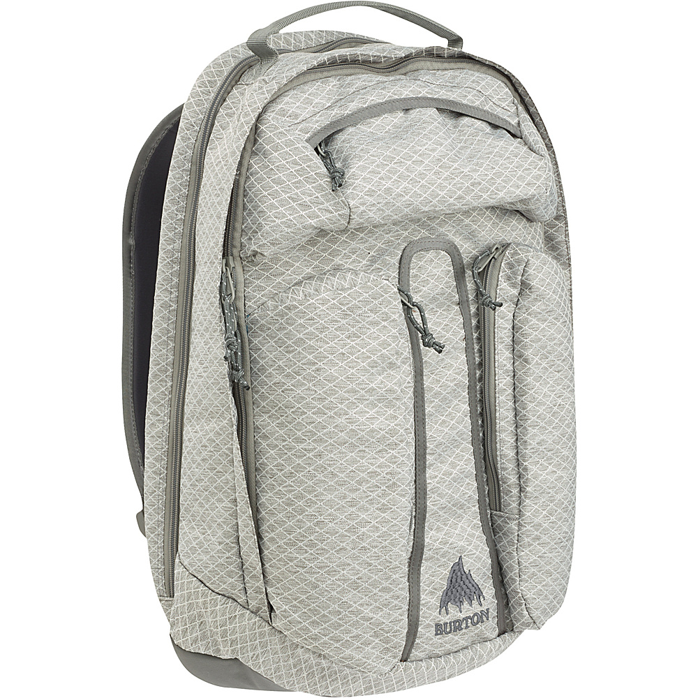 Burton Curbshark Pack Gray Heather Diamond Ripstop Burton Business Laptop Backpacks
