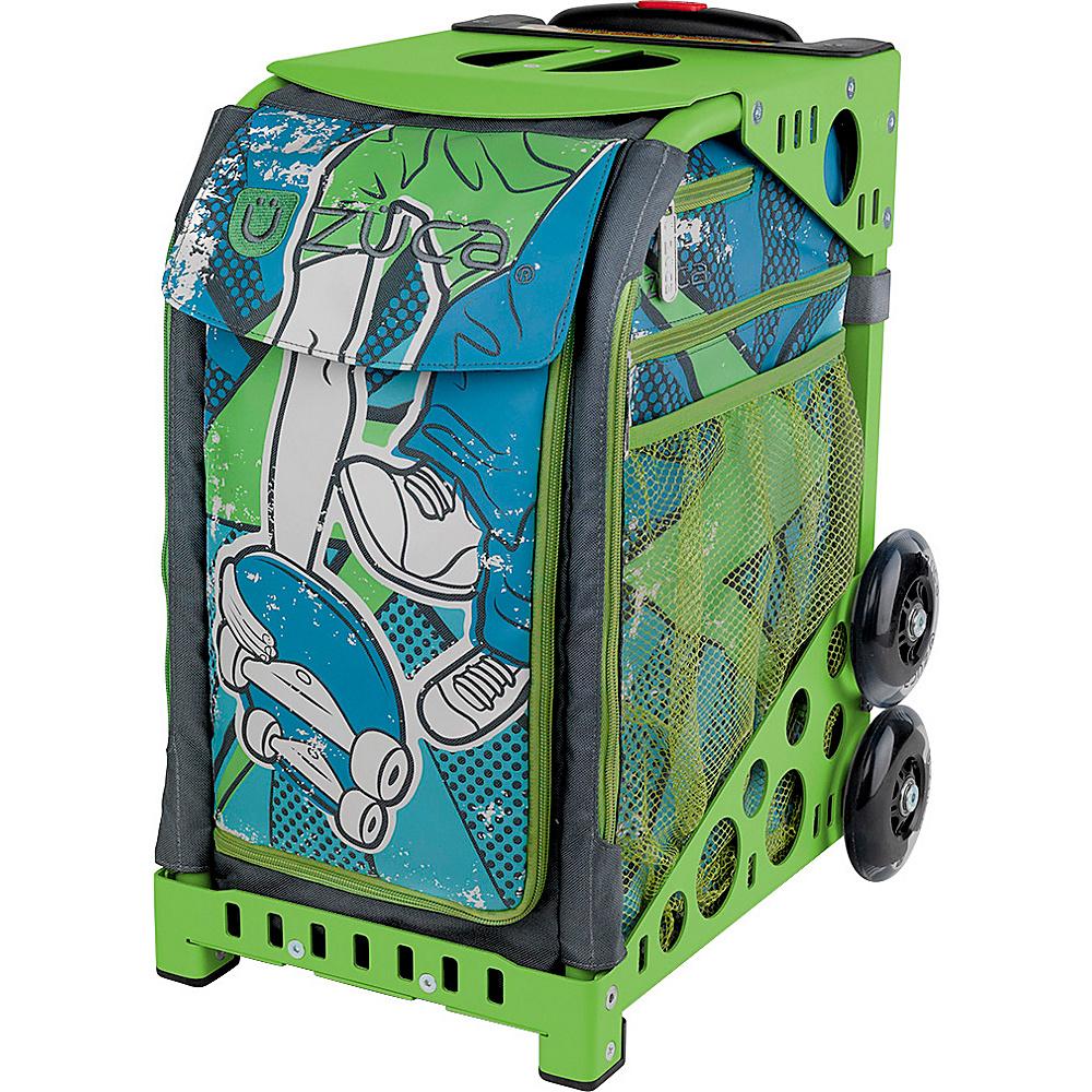 ZUCA Sport Unit Ollie Bag Green Frame Green Frame and Green Insert ZUCA Softside Checked