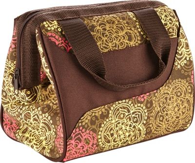 Fit & Fresh Downtown Lunch Bag Olive Floral - Fit & Fresh Travel Coolers