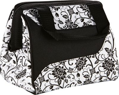 Fit & Fresh Downtown Lunch Bag Black & White Ebony - Fit & Fresh Travel Coolers