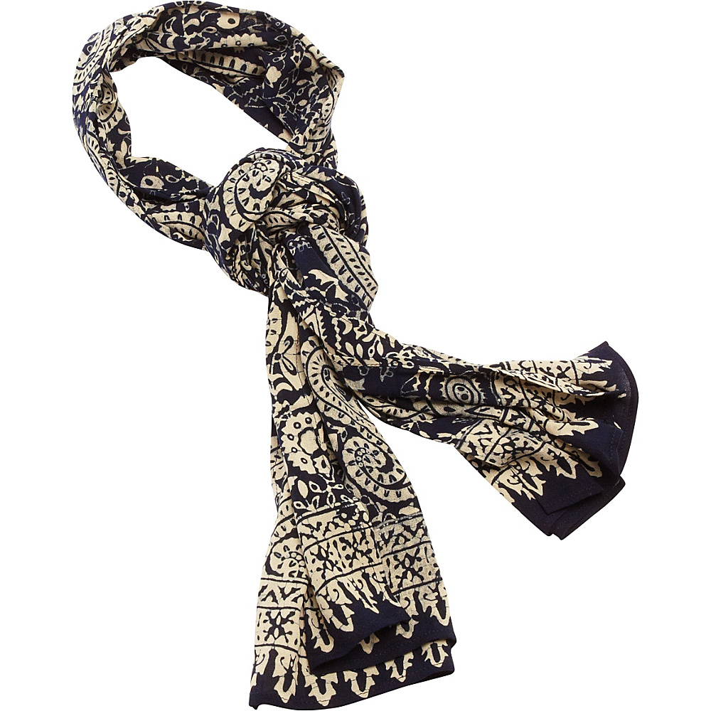 TLC you Batik Scarf Navy Paisley TLC you Hats Gloves Scarves