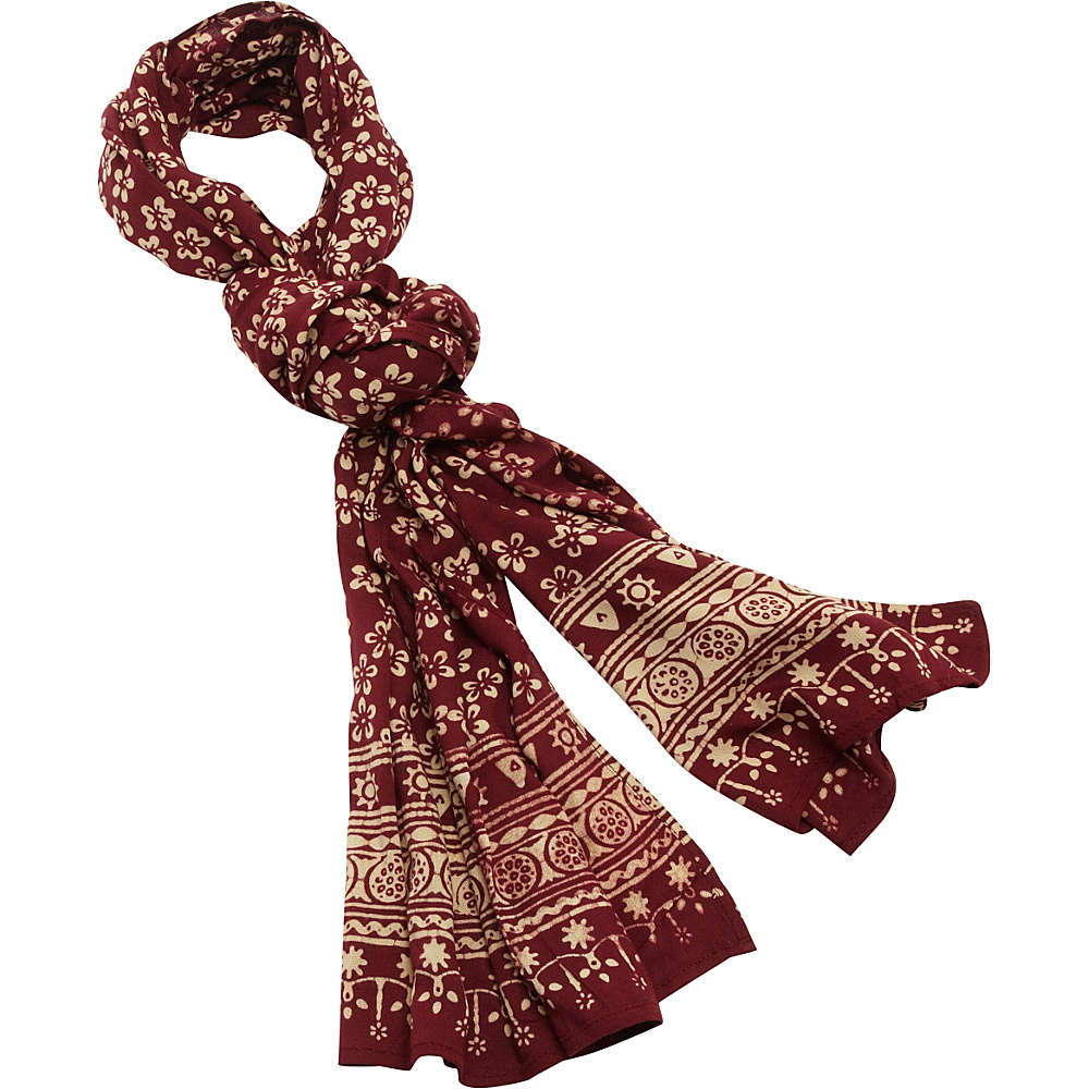 TLC you Batik Scarf Wine Paisley TLC you Hats Gloves Scarves