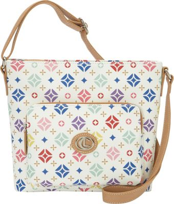 Aurielle-Carryland Starburst Signature Xbody White - Aurielle-Carryland Manmade Handbags