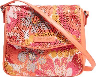 Vera Bradley Summer Sparkle Crossbody Pixie Blooms - Vera Bradley Fabric Handbags