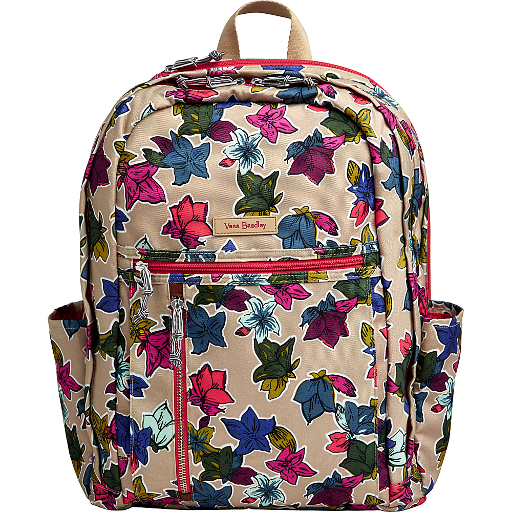 Vera Bradley Lighten Up Grande Backpack Falling Flowers Neutral - Vera Bradley Everyday Backpacks - Backpacks, Everyday Backpacks